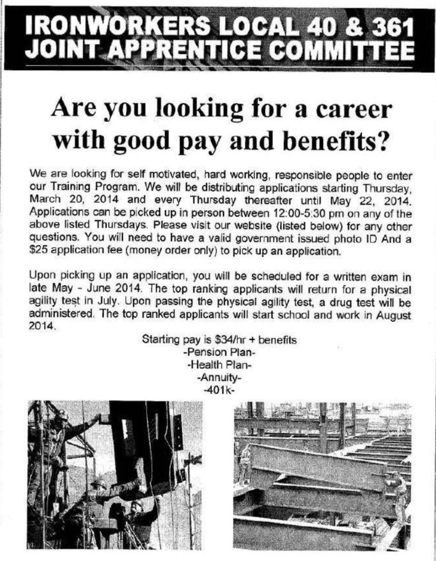 Ironworkers Apprenticeship – Jamaica 311