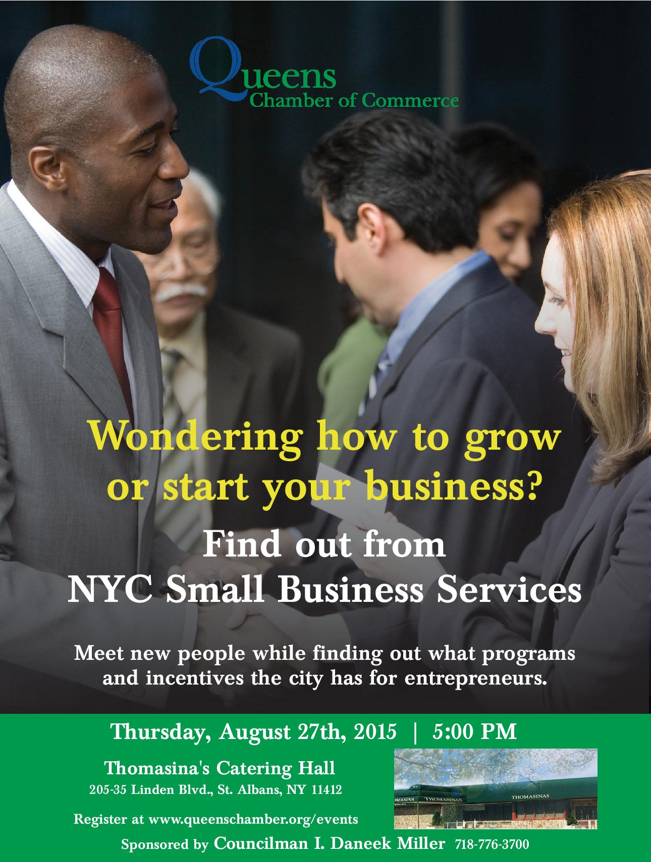 Queens Chamber Of Commerce Small Business Services Meet And Greet