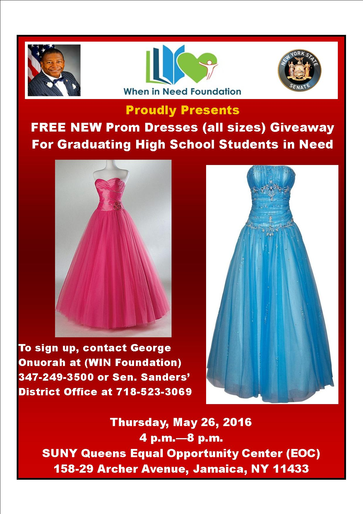 Free, Brand New Prom Dress Giveaway – Jamaica 311