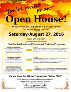 SUNY-Queens EOC Fall 2016 Open House