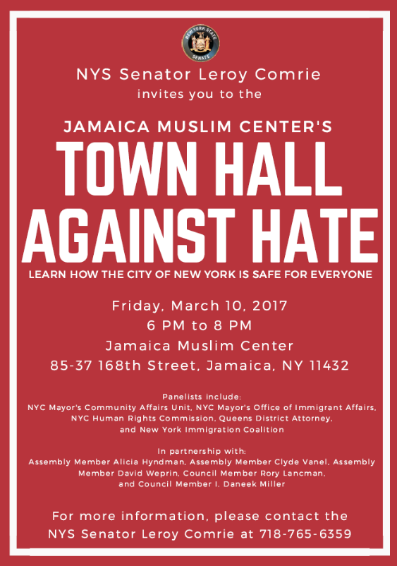 Town Hall Against Hate Jamaica 311