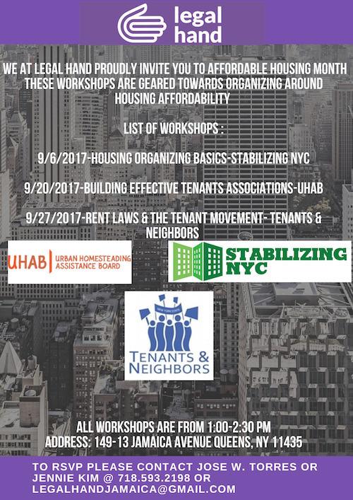 LegalHandWorkshops