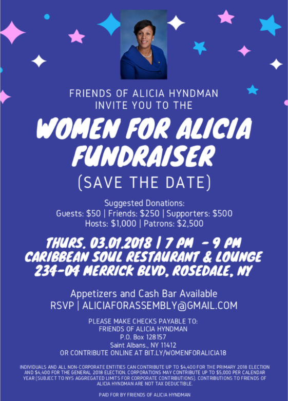 Women for Alicia Fundraiser – Jamaica 311 on roosevelt blvd, van nuys blvd, washington blvd, silver strand blvd, san marcos blvd, la jolla blvd, westwood blvd, long beach blvd,