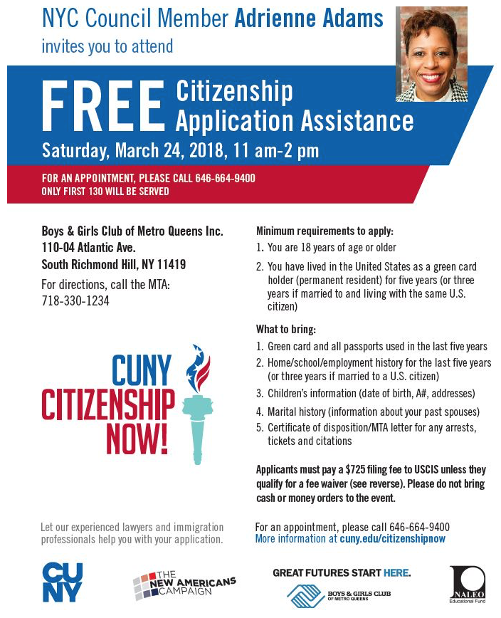 Passport Nyc Camp: Free Citizenship Application Assistance