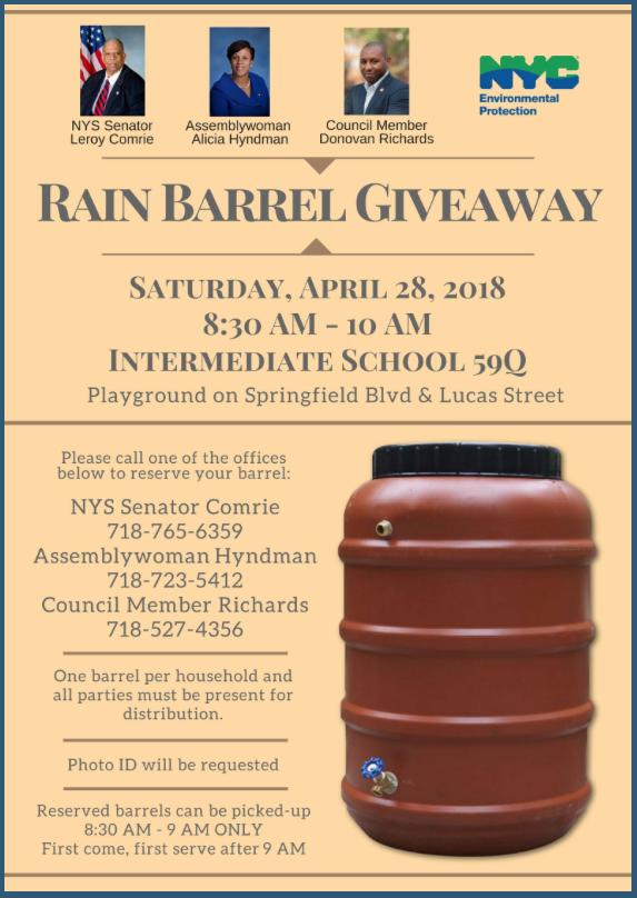 Rain Barrel Giveaway – Jamaica 311