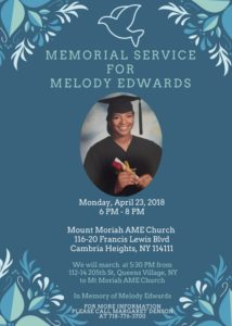 Memorial Service Melody Edwards