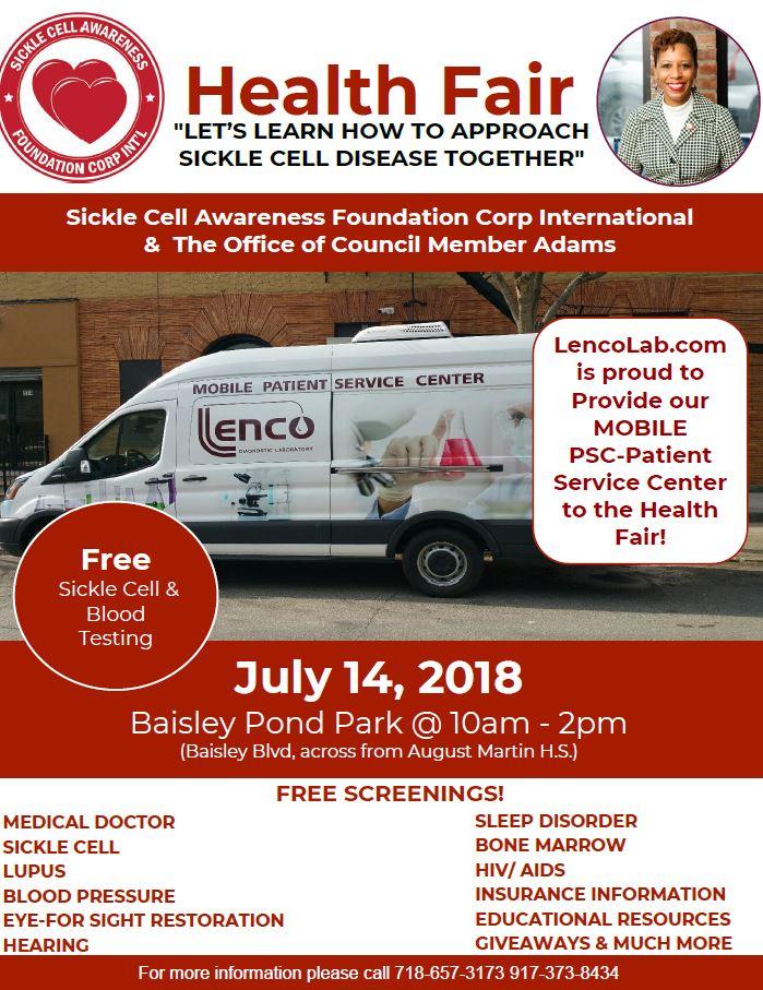July 14-Health Fair