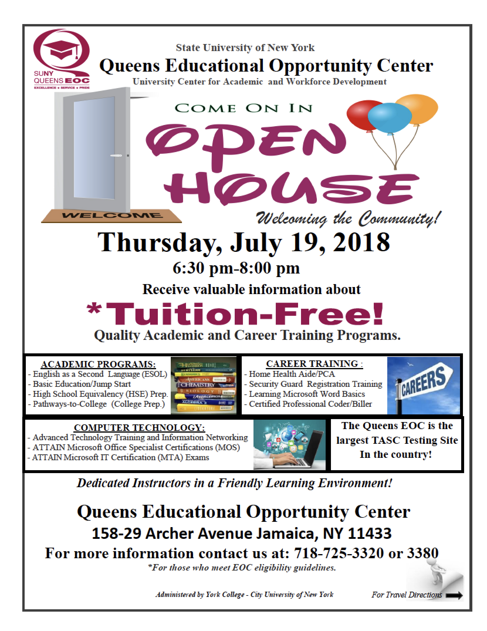 Suny Queens Educational Opportunity Center Open House Jamaica 311