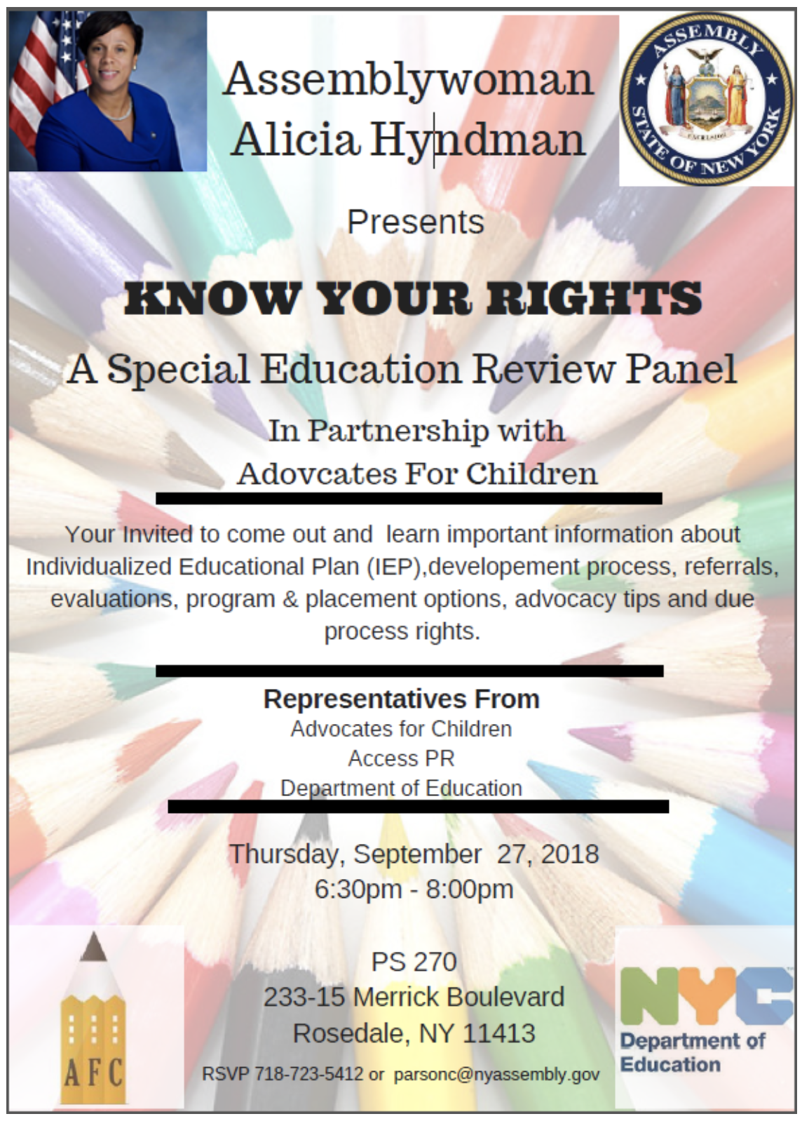 Important Special Education Rights That >> Know Your Rights A Special Education Review Panel Jamaica 311