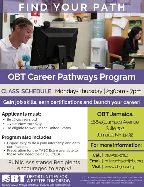 Obt Career Pathways Program Jamaica311