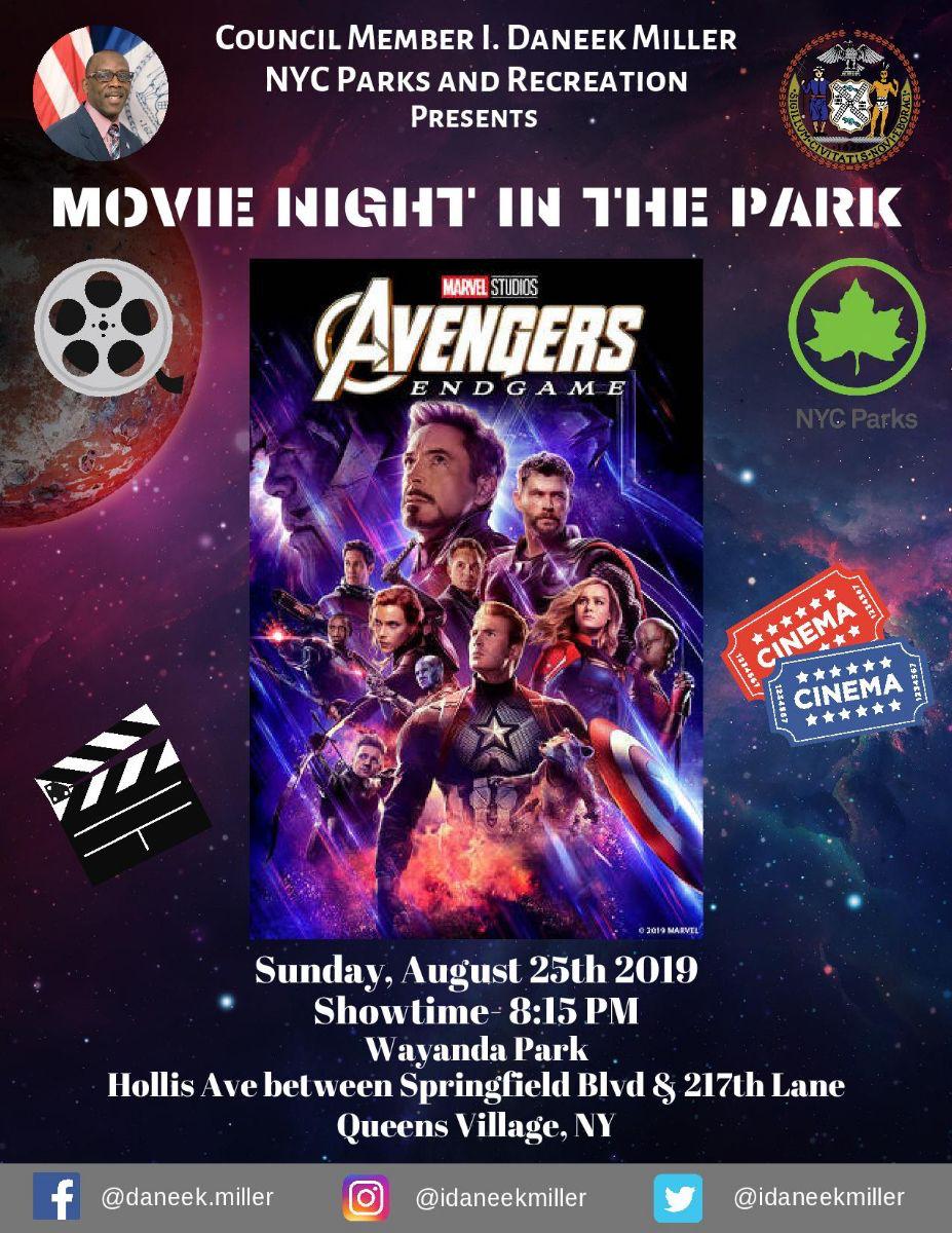 Movie Night In The Park Avengers Endgame Jamaica311