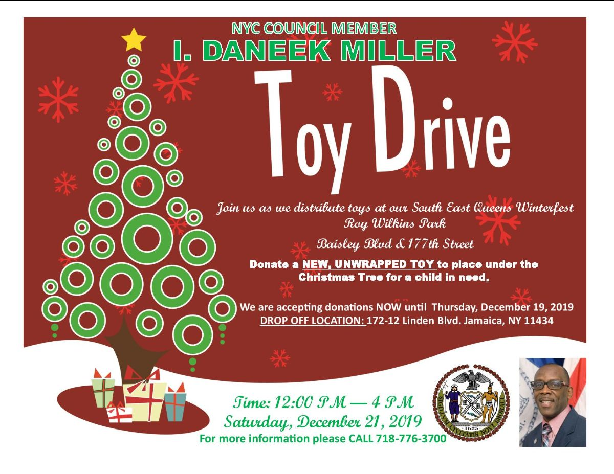 Christmas Toy Giveaway 2020 Nyc New York City Council Member I. Daneek Miller Toy Drive – Jamaica311