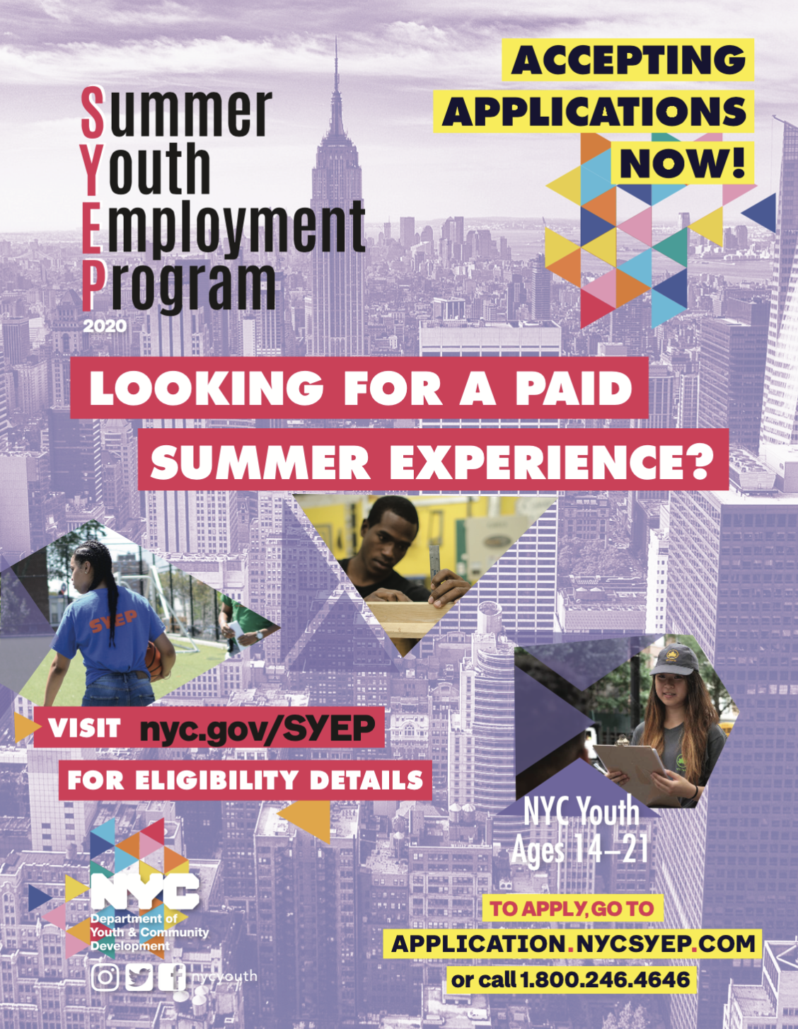 Summer Youth Employment Program 2020 Application Deadline April 10th Jamaica311